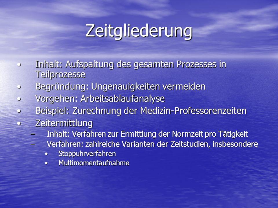 Zeitgliederung Inhalt: Aufspaltung des gesamten Prozesses in TeilprozesseInhalt: Aufspaltung des gesamten Prozesses in Teilprozesse Begründung: Ungena