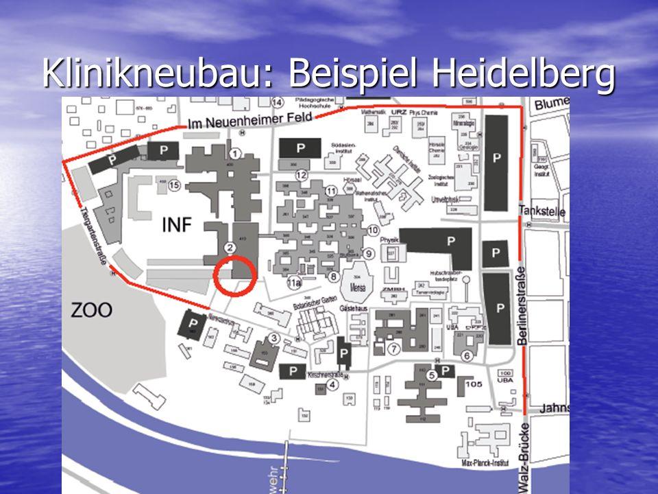Klinikneubau: Beispiel Heidelberg