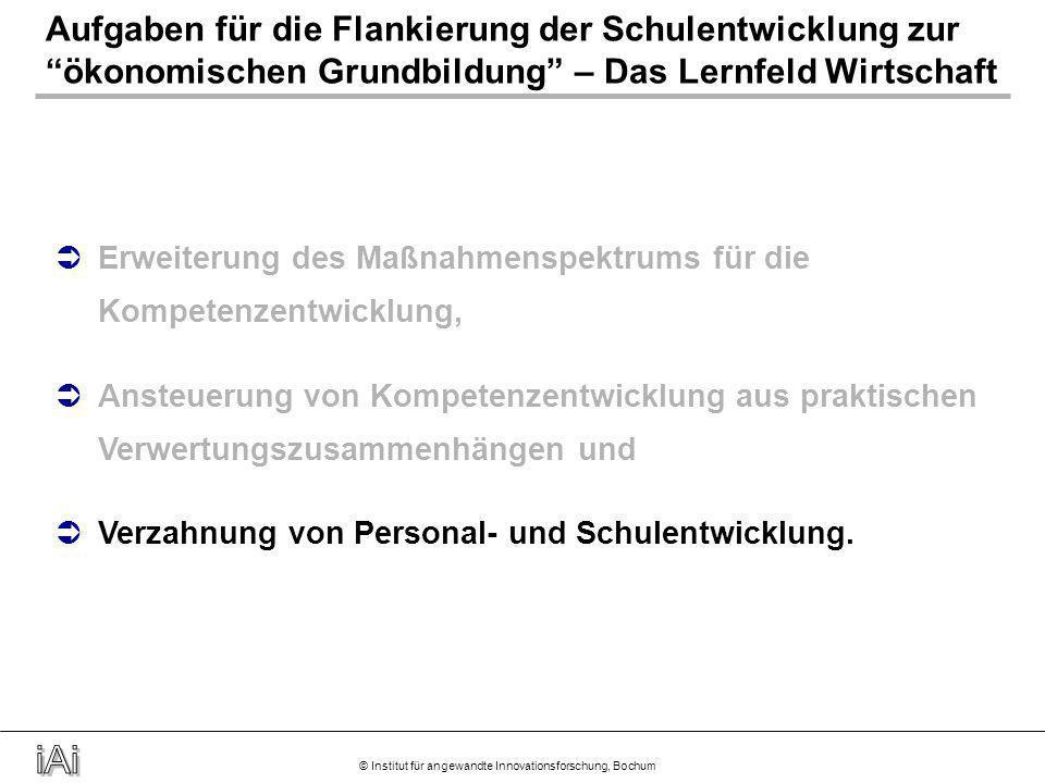 © Institut für angewandte Innovationsforschung, Bochum Vermittlung ökonomischer Grundbildung oder ökonomischer Kompetenz .