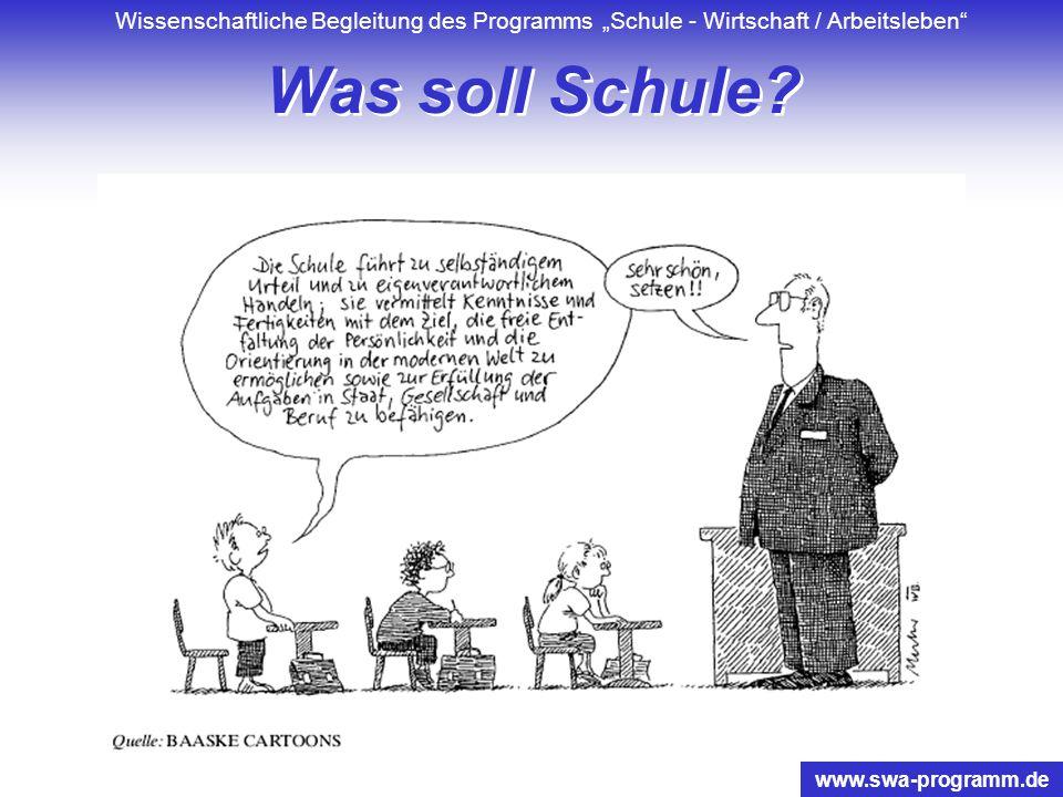 Wissenschaftliche Begleitung des Programms Schule - Wirtschaft / Arbeitsleben www.swa-programm.de Strukturebenen der Schulreform aus Ursula Carle 2000