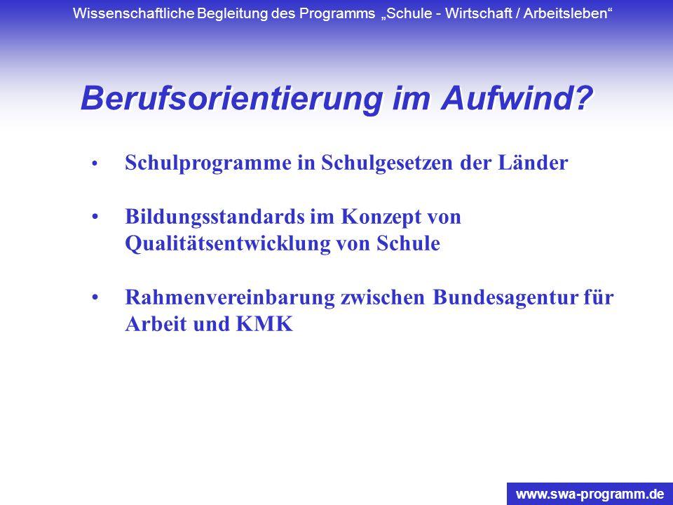 www.swa-programm.de Gliederung 1.EBISS – seiner Zeit voraus? 2.Ungenutzte Lernpotentiale – permanente Herausforderung für Berufsorientierung und Schul