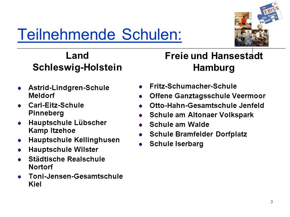 3 Teilnehmende Schulen : Astrid-Lindgren-Schule Meldorf Carl-Eitz-Schule Pinneberg Hauptschule Lübscher Kamp Itzehoe Hauptschule Kellinghusen Hauptsch