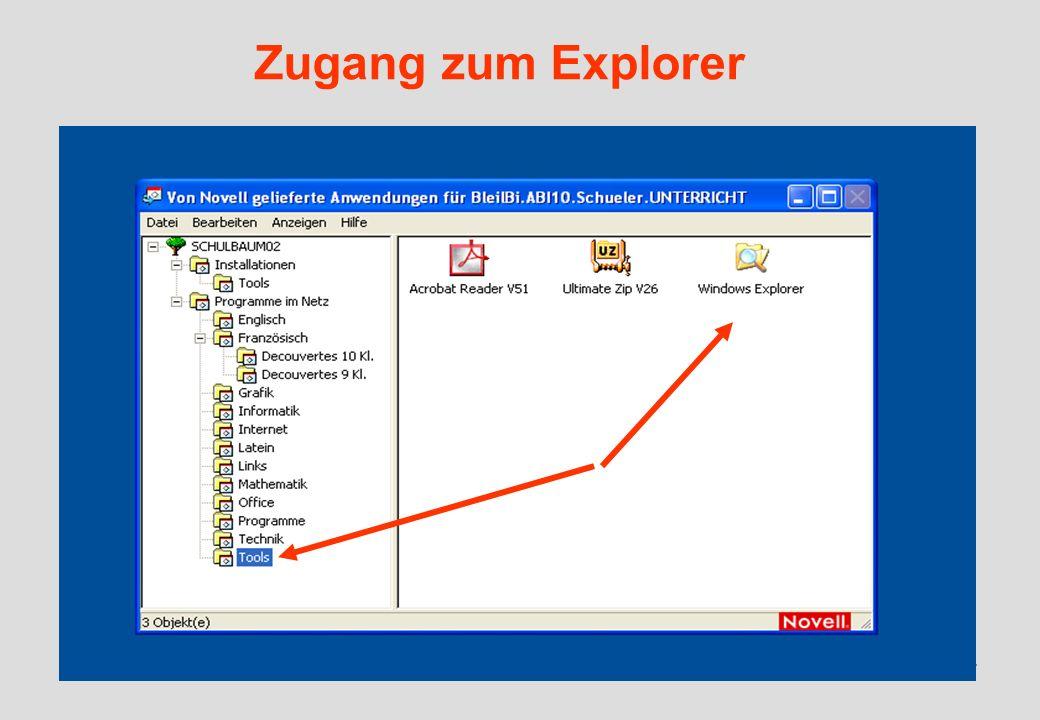 IGH – 05/0637 Zugang zum Explorer