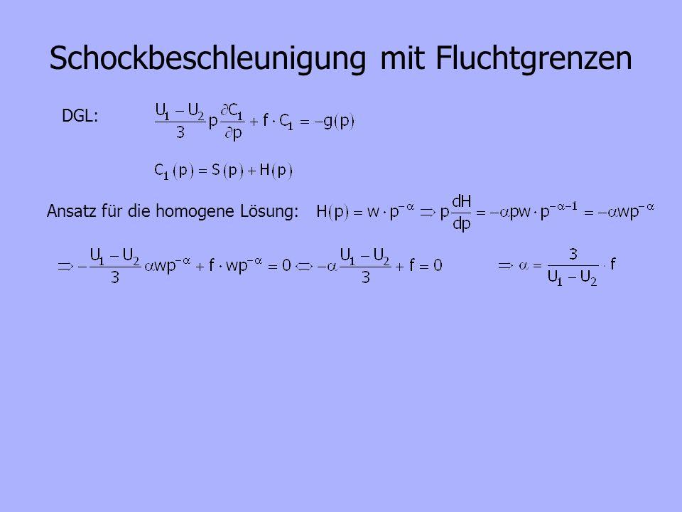 DGL: Ansatz für die homogene Lösung: