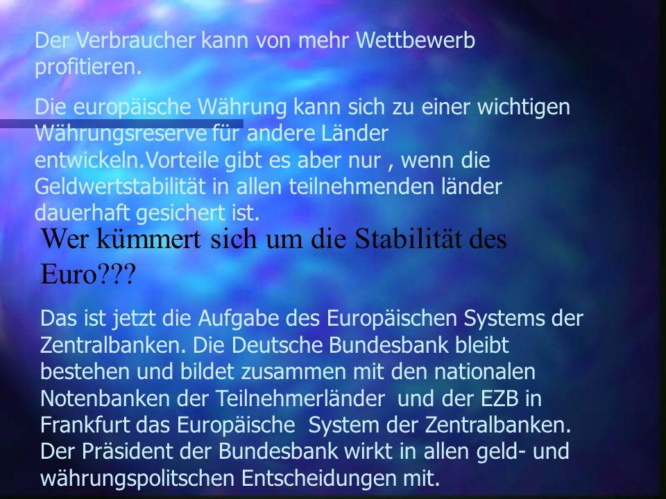 Der Euro ist da, die 5 wichtigsten W`s n Warum ist eine Währungsunion keine Währungsreform???? Die Währungsunion ist keine Währungsreform, sondern led