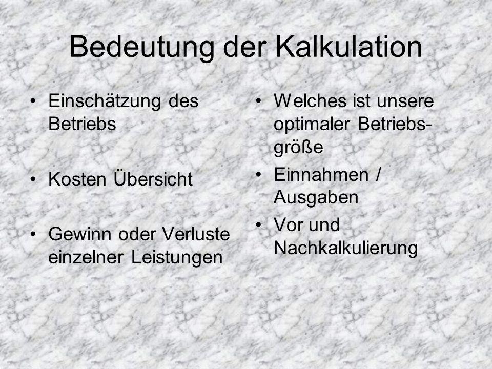 Fixe(r) Kosten Unabhängig von Herstellung der Gütemengen Wenn z.B.