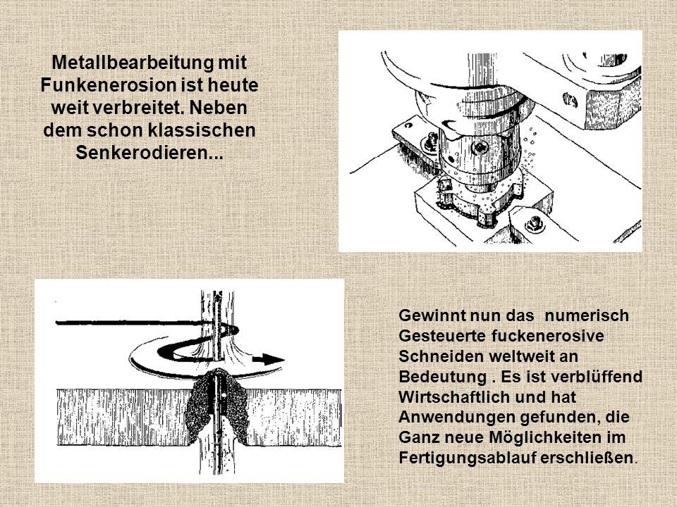 Metallbearbeitung mit Funkenerosion ist heute weit verbreitet. Neben dem schon klassischen Senkerodieren... Gewinnt nun das numerisch Gesteuerte fucke