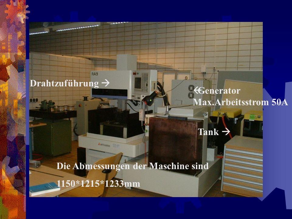 Arbeitsfläche Filter Bedienfeld Die Maschine hat ein Gewicht von 1400Kg.