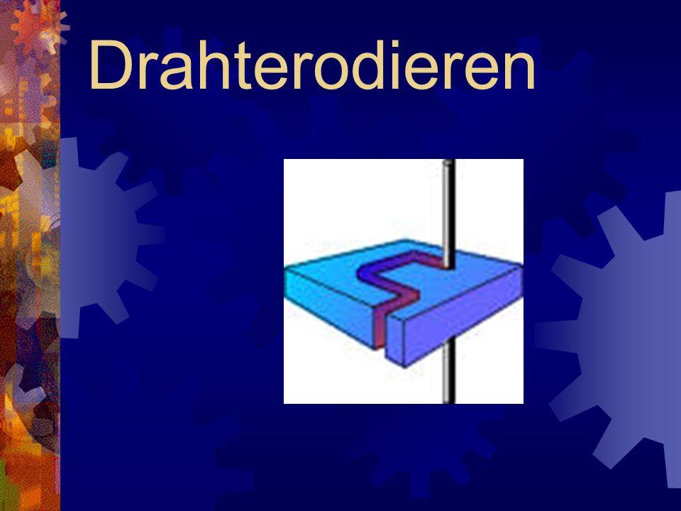 Durchdringungstechnik Für das Senkerodieren schmaler Rippen (z.B.: Kühlrippen) sind entsprechend geformte Elektroden erforderlich.