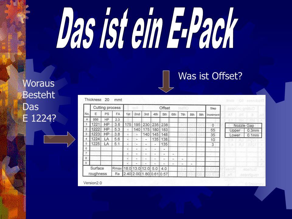 Was sind E-Packs? Beim Erodieren ist es wichtig dass die Stromstärke dem Werkstück angepasst wird. In Bezug auf die Oberflächenqualität und die Drahtb