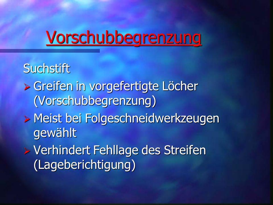 Vorschubbegrenzung Vorschubbegrenzung Suchstift Greifen in vorgefertigte Löcher (Vorschubbegrenzung) Greifen in vorgefertigte Löcher (Vorschubbegrenzu