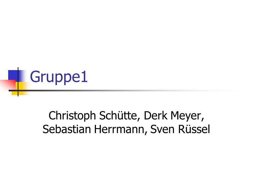 Gruppe1 Christoph Schütte, Derk Meyer, Sebastian Herrmann, Sven Rüssel
