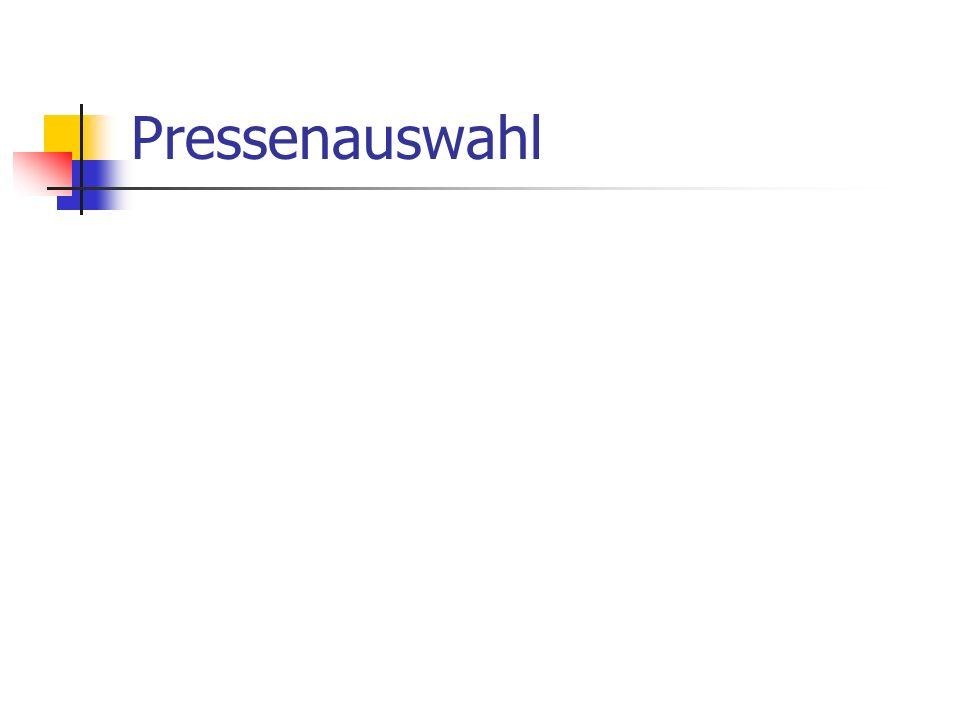 Pressenauswahl