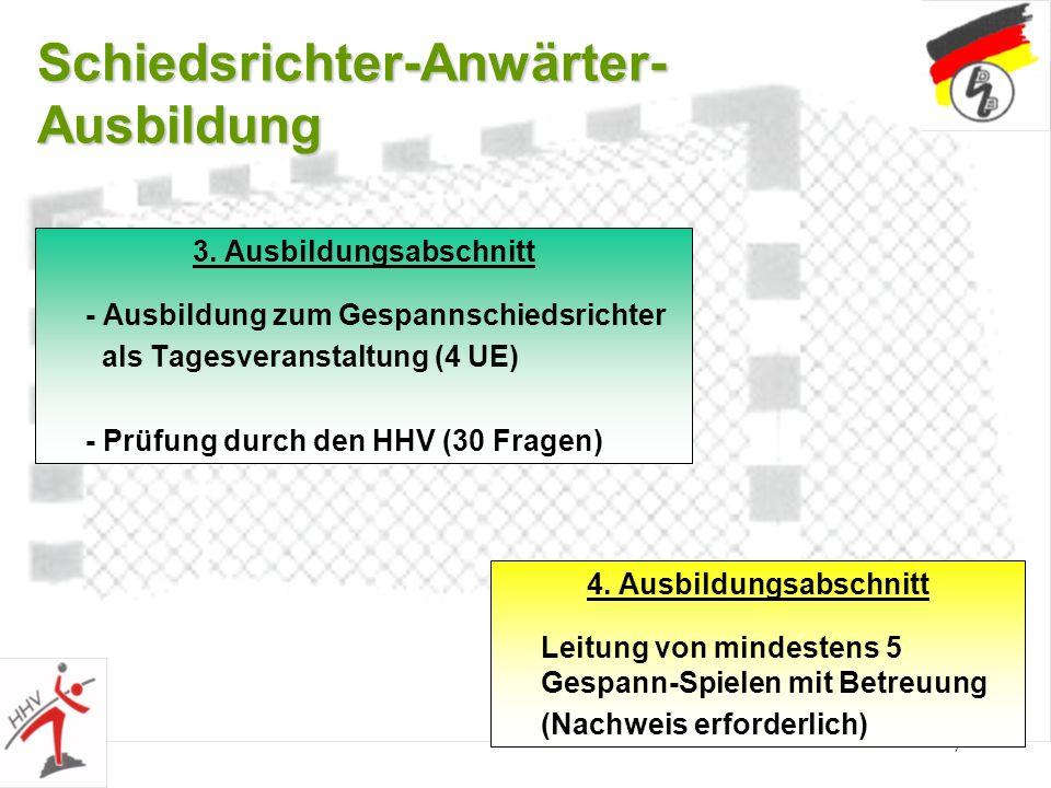 7 Schiedsrichter-Anwärter- Ausbildung 3.