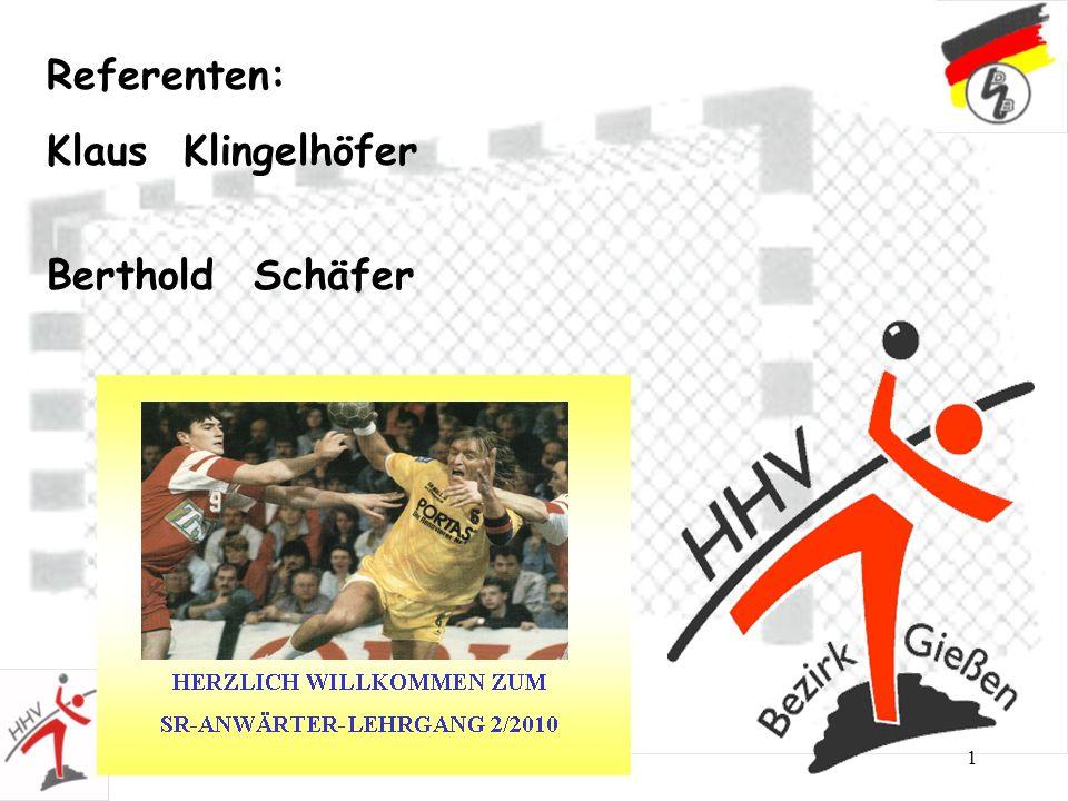 1 Referenten: Klaus Klingelhöfer Berthold Schäfer