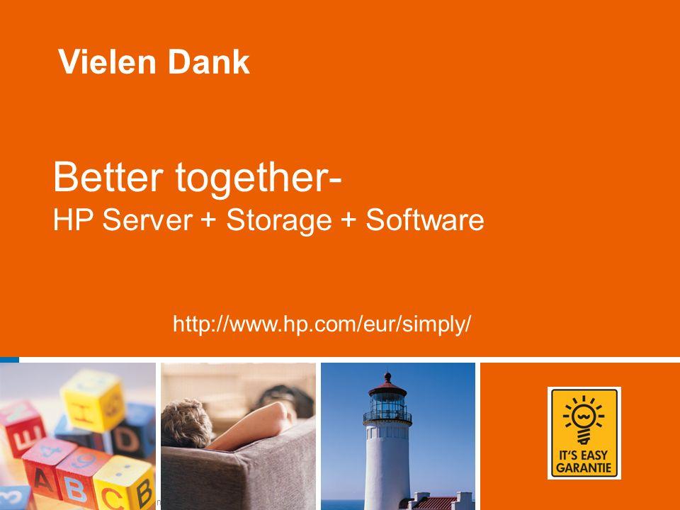 NPI Launch Kickoff Presentation 28 Better together- HP Server + Storage + Software http://www.hp.com/eur/simply/ Vielen Dank