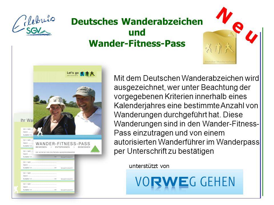 Mit dem Deutschen Wanderabzeichen wird ausgezeichnet, wer unter Beachtung der vorgegebenen Kriterien innerhalb eines Kalenderjahres eine bestimmte Anzahl von Wanderungen durchgeführt hat.
