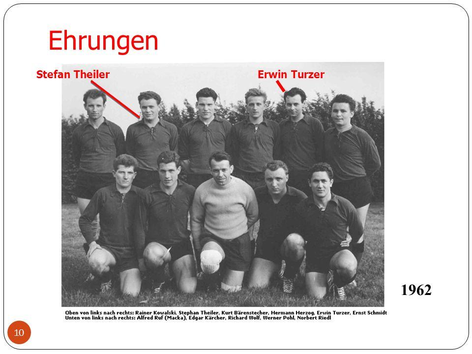10 Ehrungen Stefan Theiler 1962 Erwin Turzer