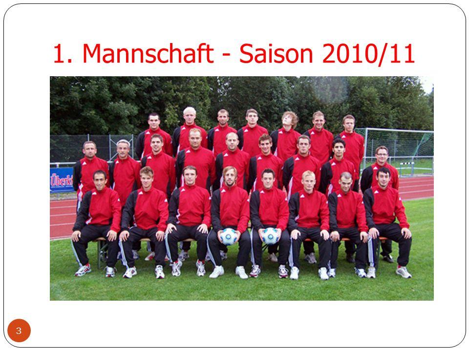 2. Mannschaft - Saison 2010/11 4 Neuzugänge 2002/03 1. Mannschaft 2002/03