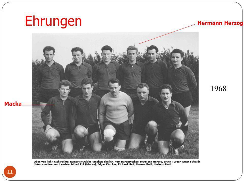 11 Ehrungen Hermann Herzog Macka 1968