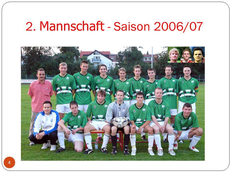 2. Mannschaft - Saison 2006/07 4 Neuzugänge 2002/03 1. Mannschaft 2002/03