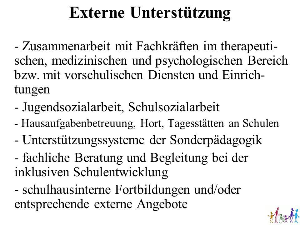 - Zusammenarbeit mit Fachkräften im therapeuti- schen, medizinischen und psychologischen Bereich bzw. mit vorschulischen Diensten und Einrich- tungen