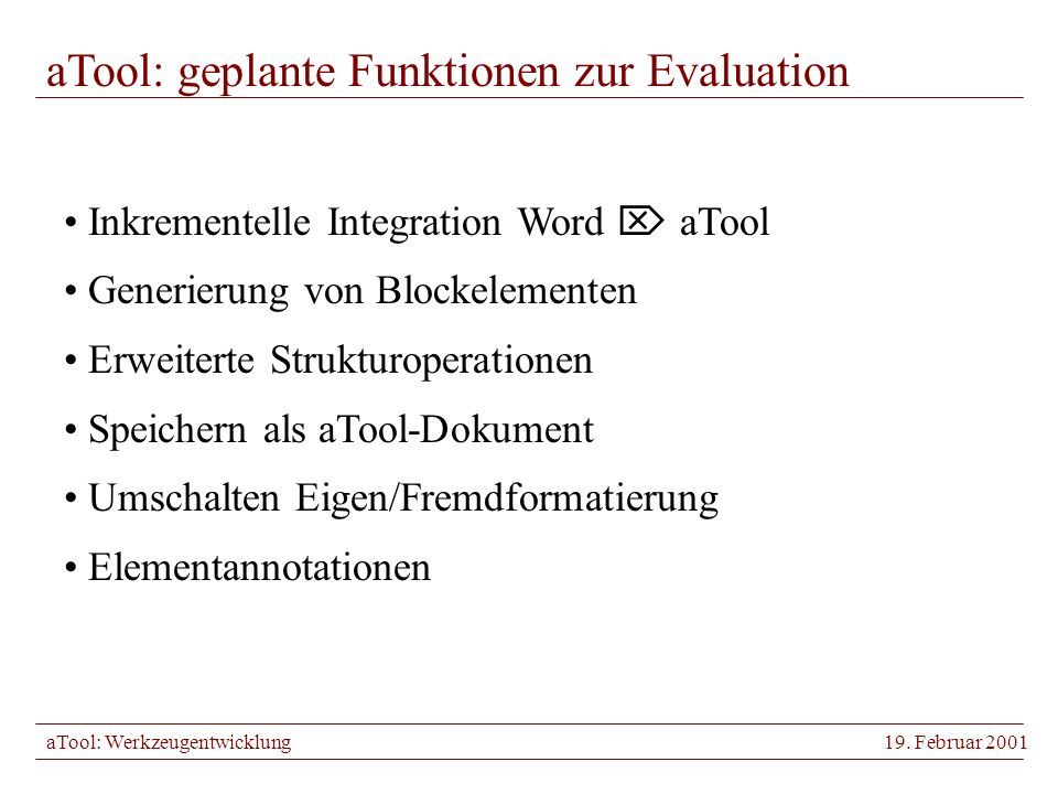 aTool: Werkzeugentwicklung19.