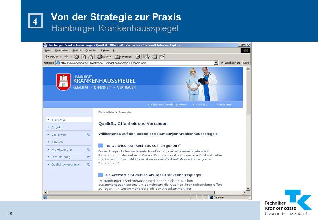 15 Von der Strategie zur Praxis Hamburger Krankenhausspiegel 4