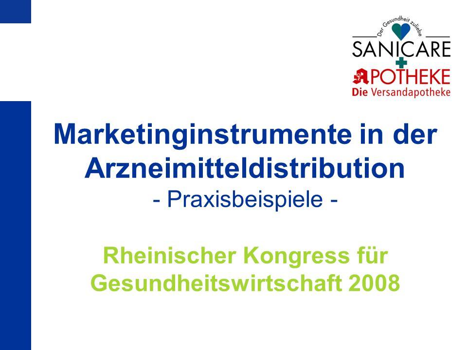 Marketinginstrumente in der Arzneimitteldistribution - Praxisbeispiele - Rheinischer Kongress für Gesundheitswirtschaft 2008