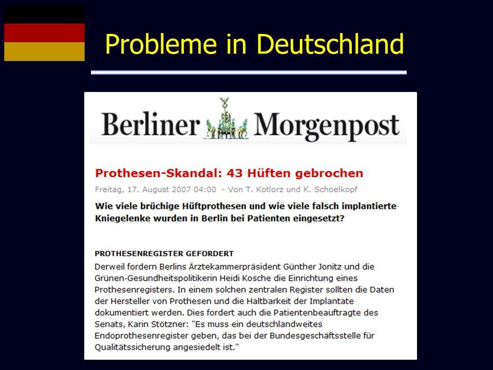 Probleme in Deutschland