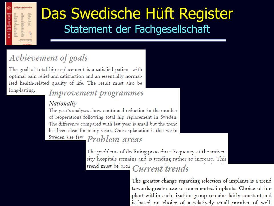 Das Swedische Hüft Register Statement der Fachgesellschaft
