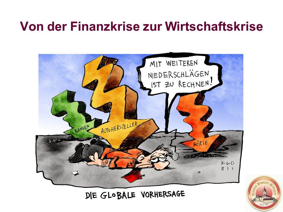 Von der Finanzkrise zur Wirtschaftskrise