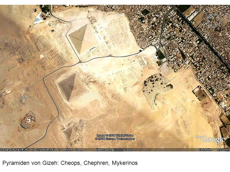 Pyramiden von Gizeh: Cheops, Chephren, Mykerinos