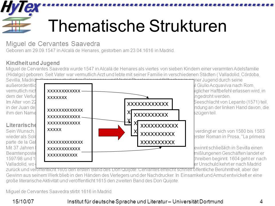 15/10/07Institut für deutsche Sprache und Literatur – Universität Dortmund35 Evaluationsphase IV – Anwendungsorientierte Evaluation