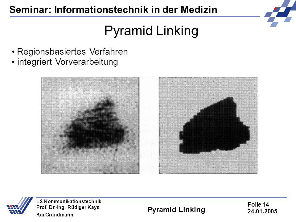 Seminar: Informationstechnik in der Medizin Folie 14 24.01.2005 LS Kommunikationstechnik Prof. Dr.-Ing. Rüdiger Kays Kai Grundmann Pyramid Linking Reg