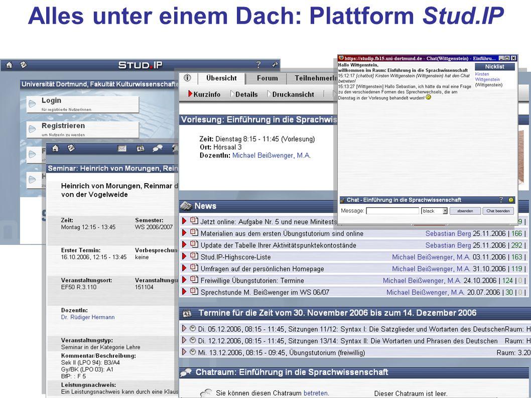 Alles unter einem Dach: Plattform Stud.IP