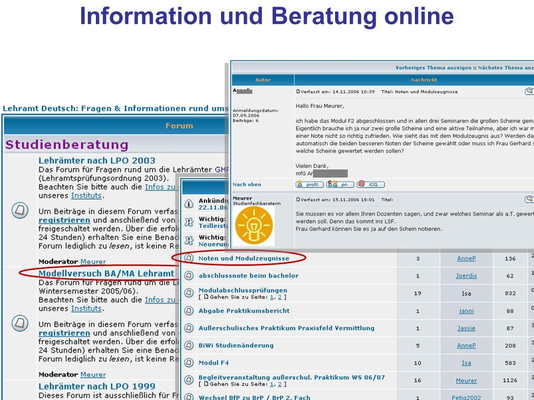 Information und Beratung online