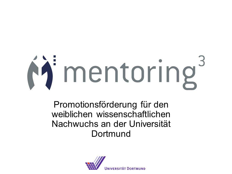 Promotionsförderung für den weiblichen wissenschaftlichen Nachwuchs an der Universität Dortmund