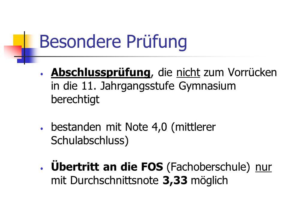 Information zur FOS Wer sollte sich an der FOS anmelden.