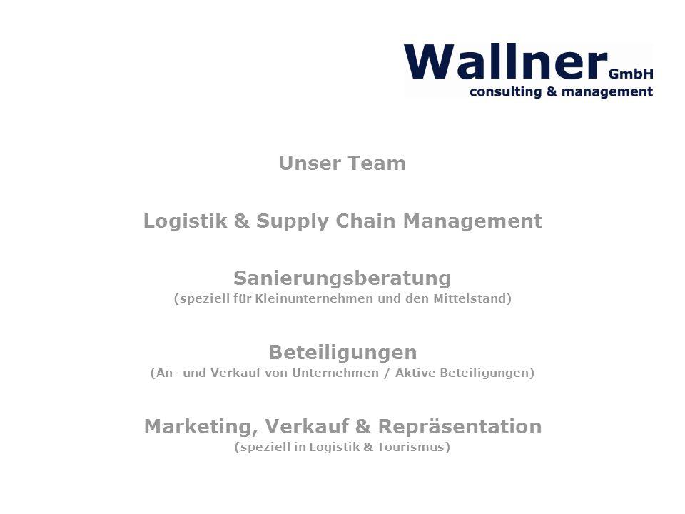 Unser Team Logistik & Supply Chain Management Sanierungsberatung (speziell für Kleinunternehmen und den Mittelstand) Beteiligungen (An- und Verkauf vo