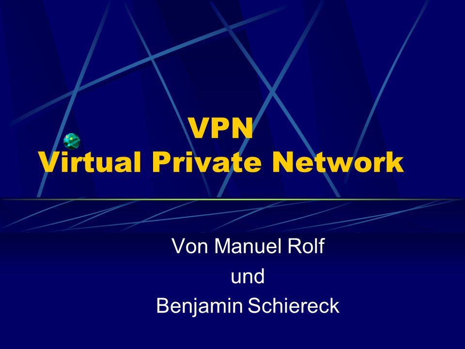 VPN Virtual Private Network Von Manuel Rolf und Benjamin Schiereck