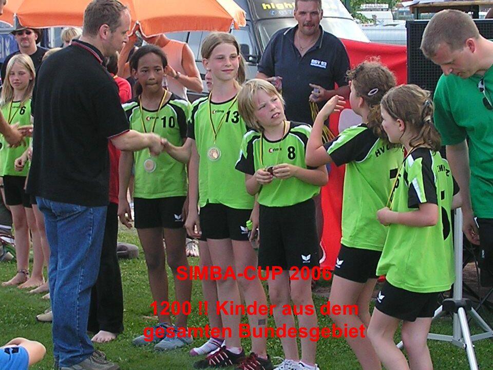 SIMBA-CUP 2006 1200 !! Kinder aus dem gesamten Bundesgebiet
