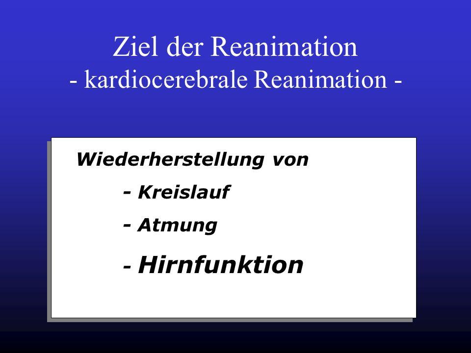 Reanimationsleitlinien Swedisch Cardiac Arrest Register 1999 14.000Pat.,CPR in 11.000 Pat. davon 30 Tage Überleben: 5,0% für alle Multizentrisches Eur