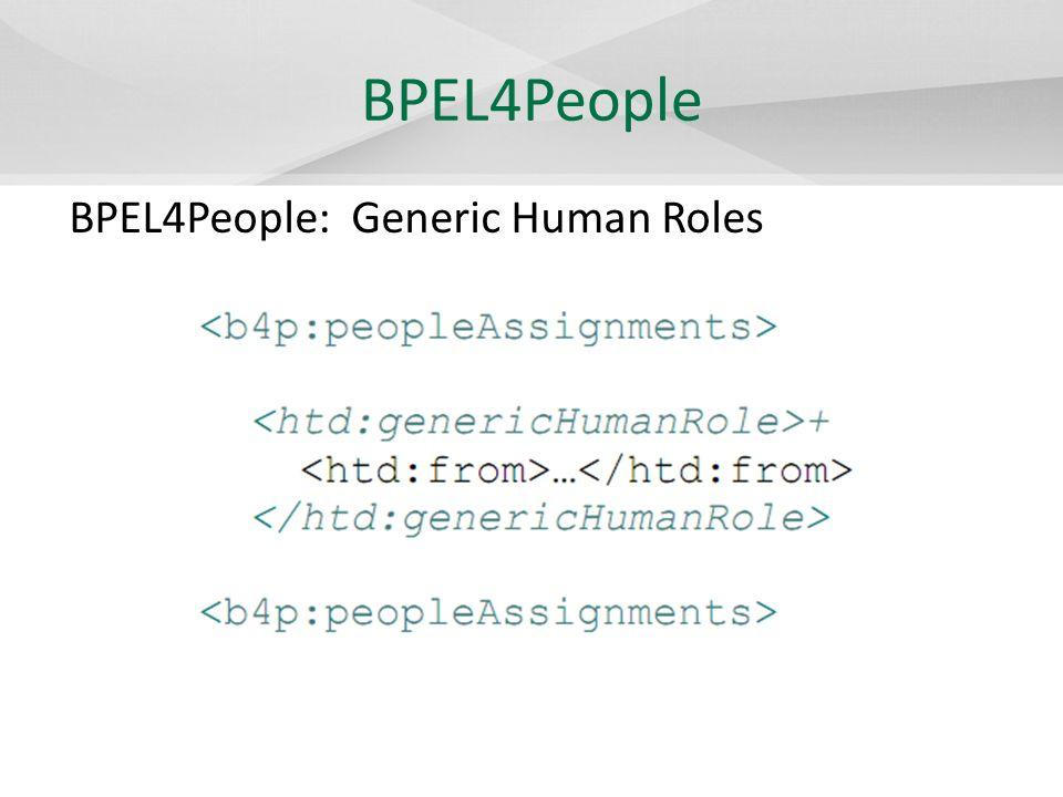 BPEL4People BPEL4People: Logical People Groups
