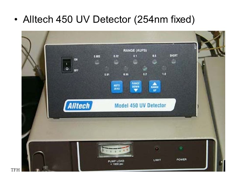 TFH 2005 WS Alltech 450 UV Detector (254nm fixed)