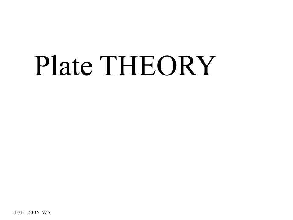 TFH 2005 WS Plate THEORY