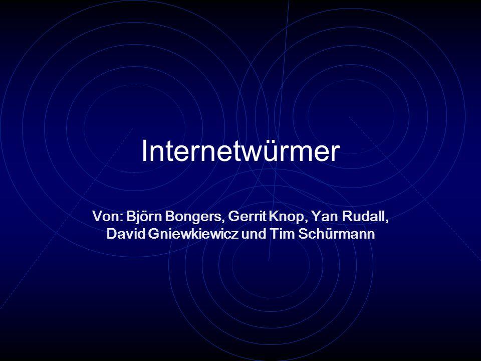 Internetwürmer Von: Björn Bongers, Gerrit Knop, Yan Rudall, David Gniewkiewicz und Tim Schürmann