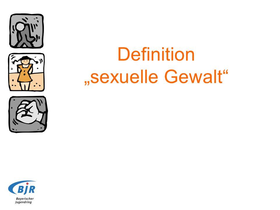 Definition sexuelle Gewalt