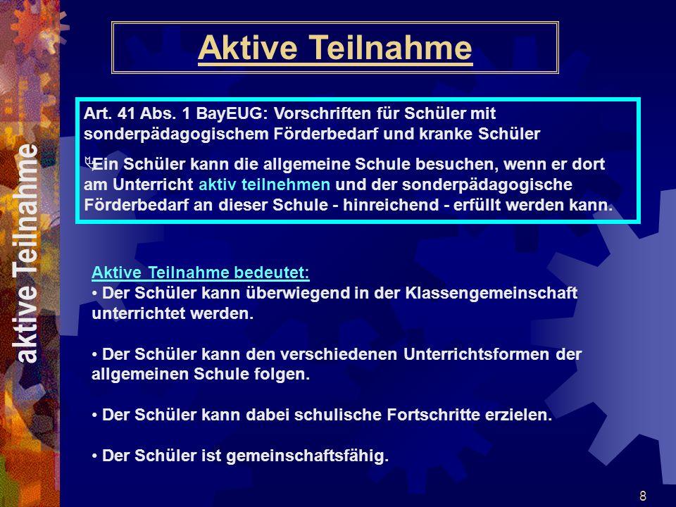 19 Kooperationsklassen - Art.30 Abs.