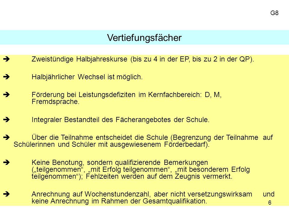 17 Die 4 Abiturfächer Grundbedingungen 1.Fach = LK 2.